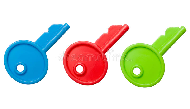 Clés de jouet images stock