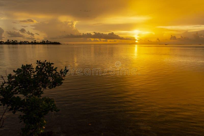 Clés de la Floride de coucher du soleil d'or photos libres de droits