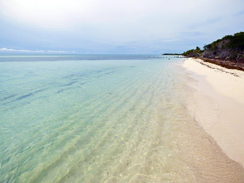 Clés de la Floride Parc d'état du Bahia Honda, vue de la plage photographie stock