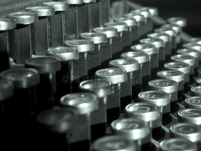 Clés de machine à écrire images libres de droits
