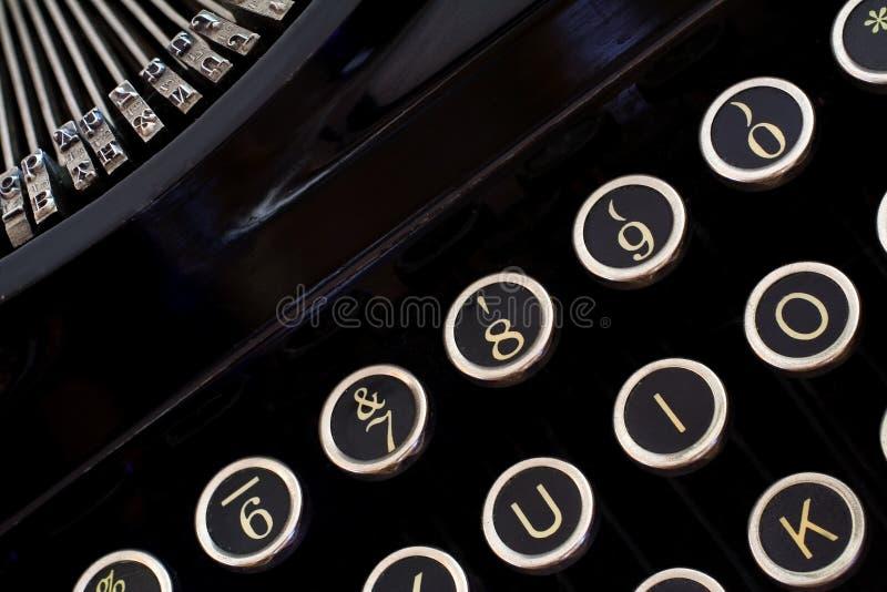 Clés de machine à écrire de cru image stock