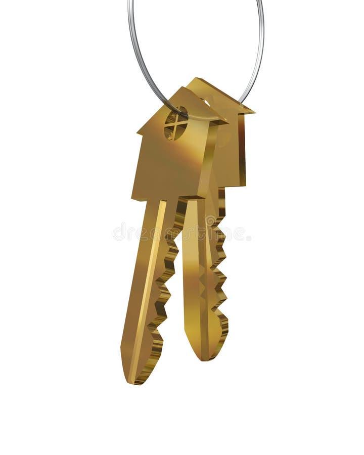 Clés de nouvelle maison illustration de vecteur