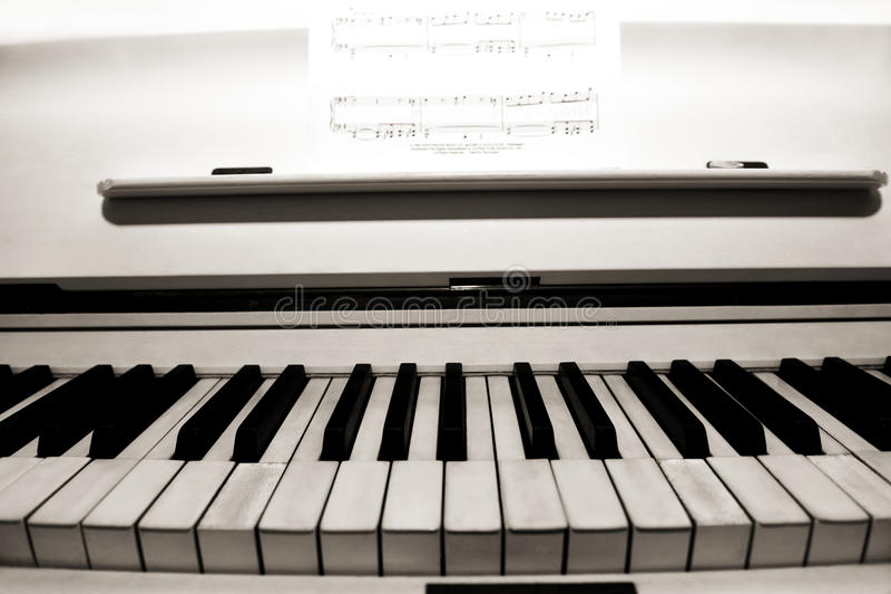 Clés de piano. photos libres de droits