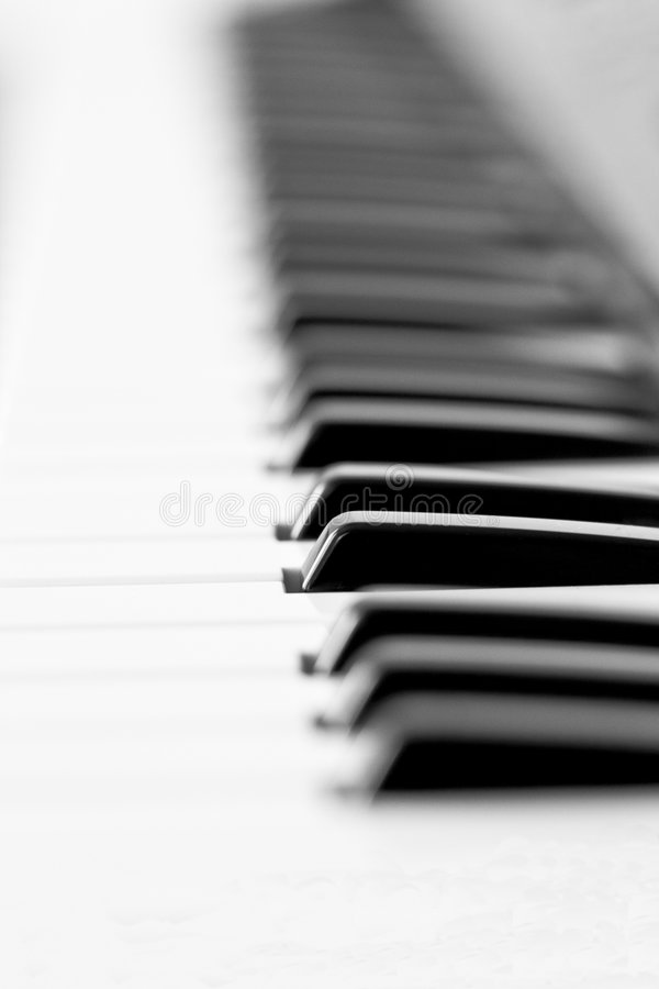 Clés de piano photo stock