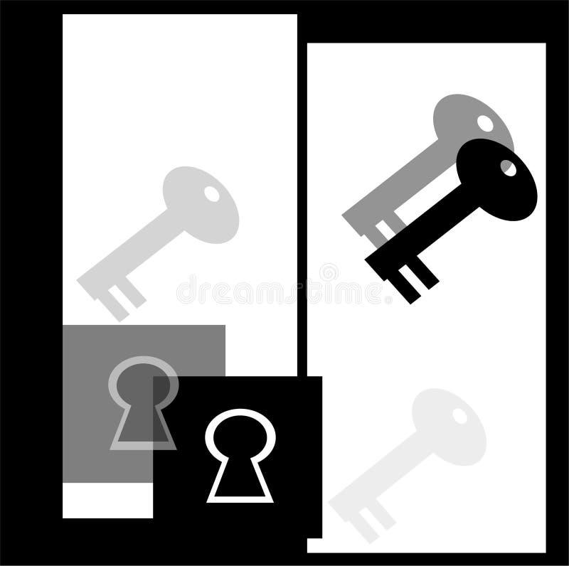Clés et blocages illustration libre de droits