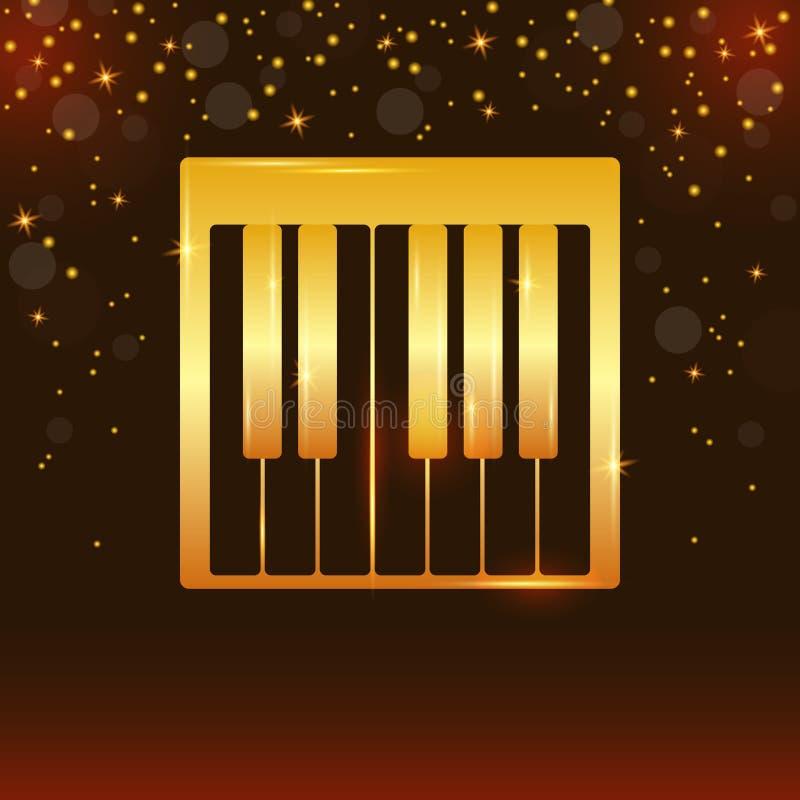 Clés réalistes de piano Conception de piano, Web, art de piano, appli, fond de piano, cl?s de piano, fond de musique Vecteur eps1 illustration libre de droits