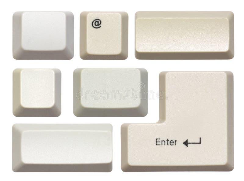clés vides d'ordinateur photographie stock