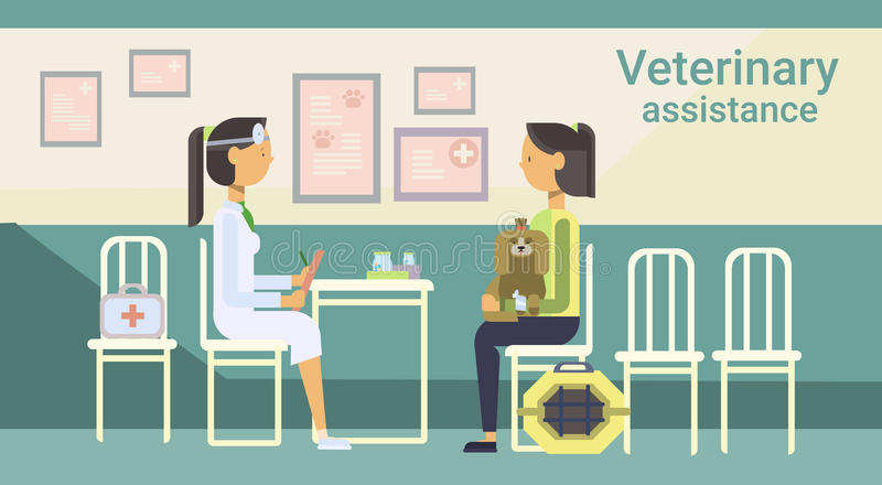 Clínica de Cure Animal In del médico veterinario de la ayuda veterinaria stock de ilustración
