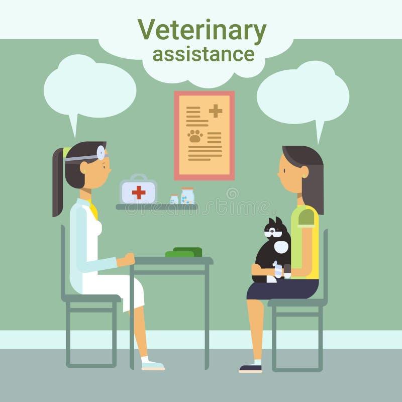 Clínica de Cure Animal In do médico veterinário do auxílio veterinário ilustração stock