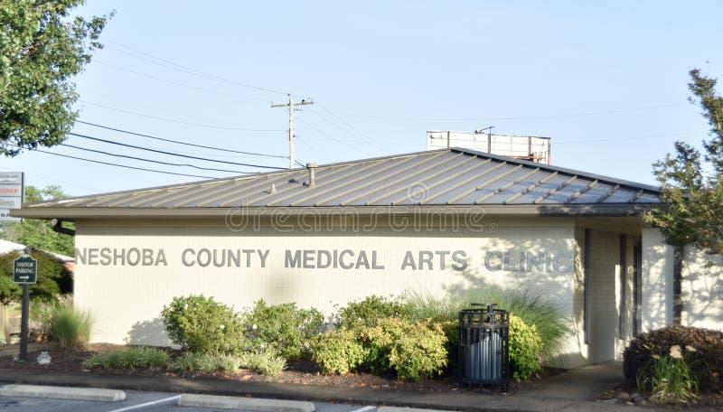 Clínica médica das artes de Neshoba County, Philadelphfia, Mississippi fotografia de stock