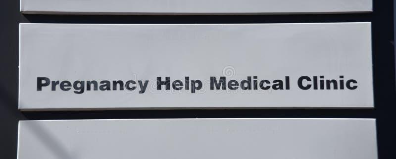 Clínica médica de la ayuda del embarazo foto de archivo