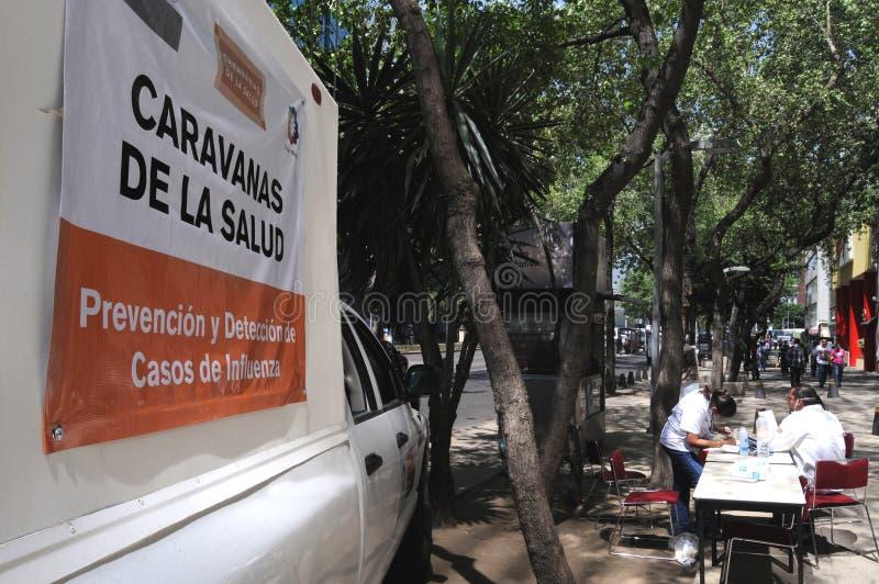 Clínica móvel em Cidade do México fotografia de stock