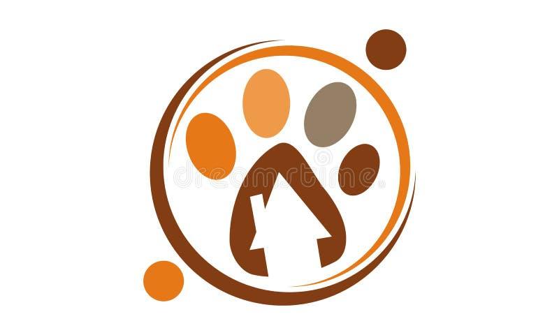 Clínica veterinária Logo Design Template ilustração stock