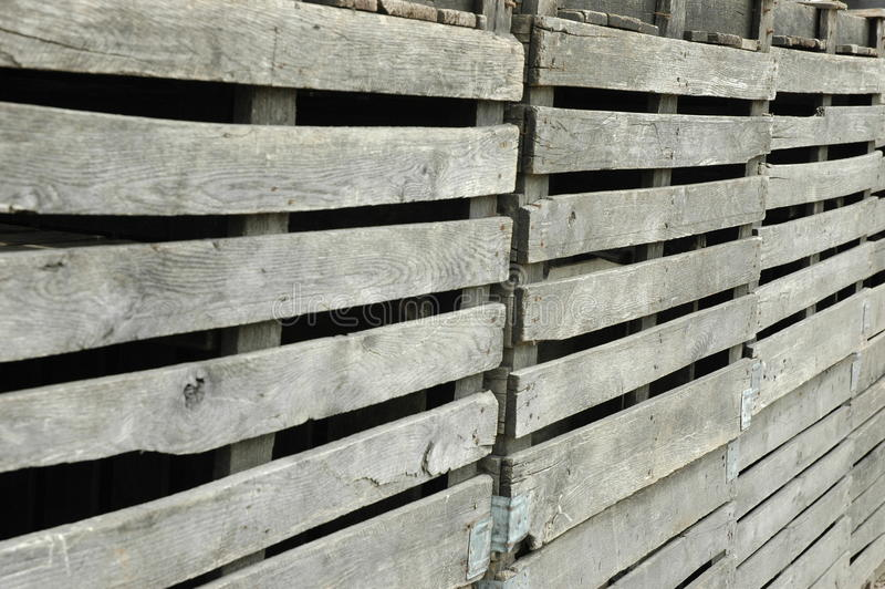 Clôture en bois délabrée photos stock