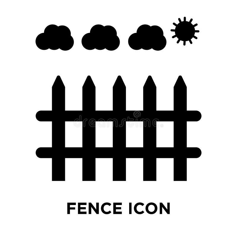 Clôturez le vecteur d'icône d'isolement sur le fond blanc, concept de logo de illustration libre de droits
