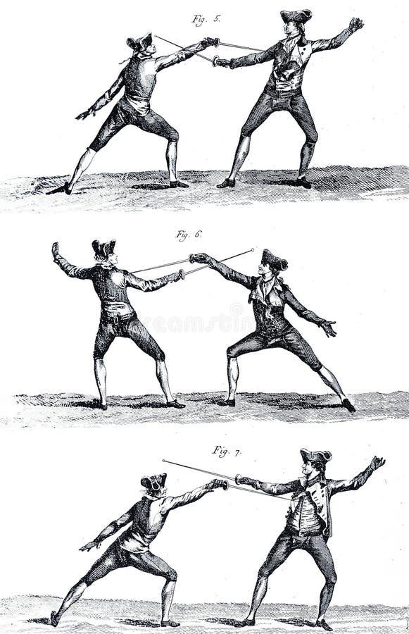 clôture du 18ème siècle I illustration stock
