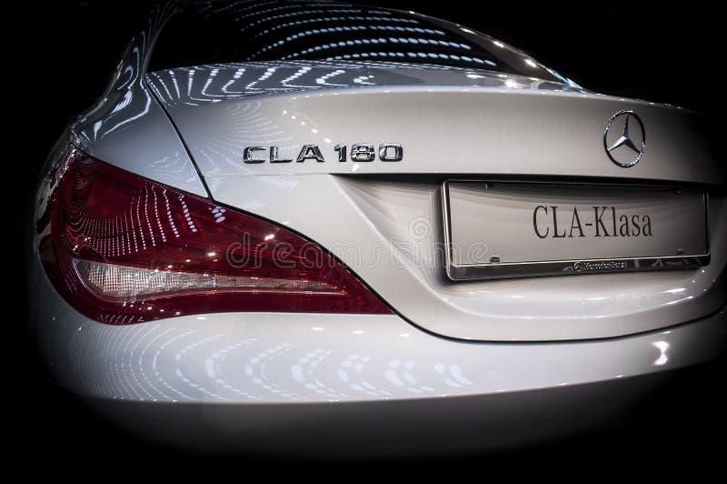 CLA de la clase del modelo nuevo de Mercedes fotografía de archivo libre de regalías