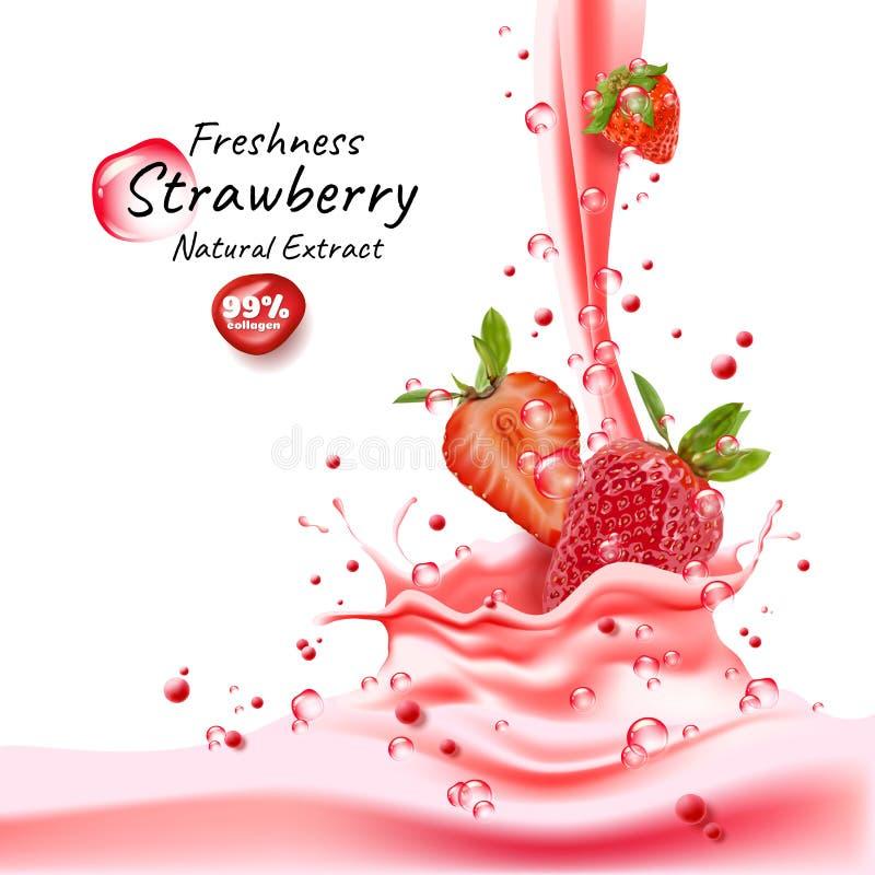 ?claboussure de jus de fraise illustration libre de droits