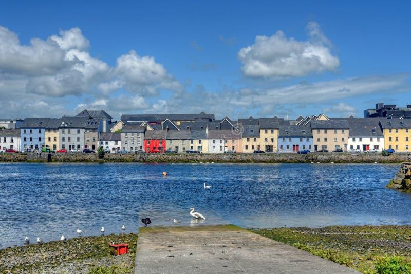 Claddagh戈尔韦在戈尔韦,爱尔兰 免版税库存照片