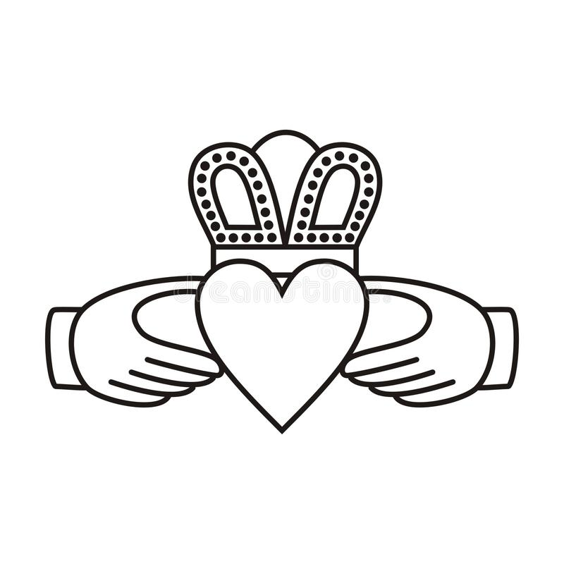 Claddagh Irish Love Symbol Stock Vector Illustration Of Love 41067022