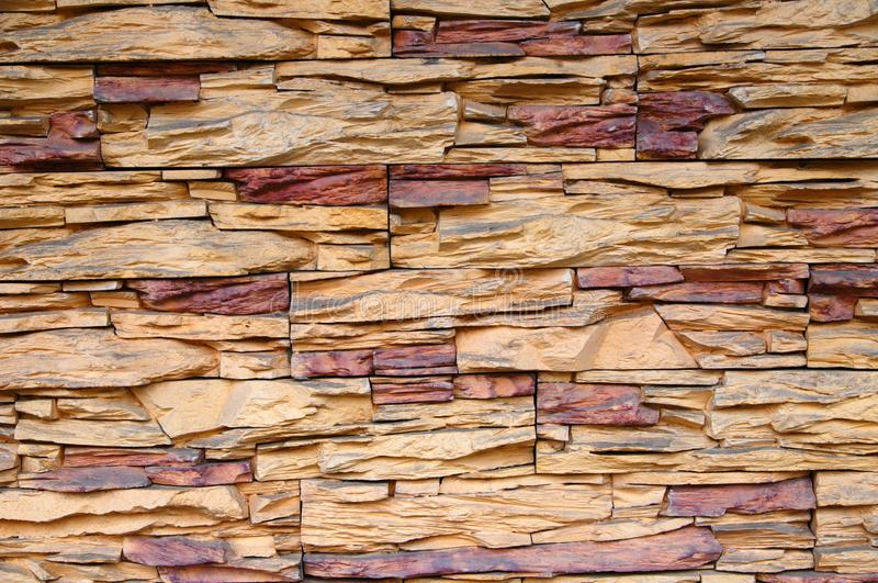 Cladding of stone wall stock images