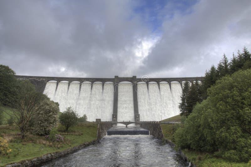 Download Claerwen Dam stock photo. Image of stone, beacons, power - 25380758