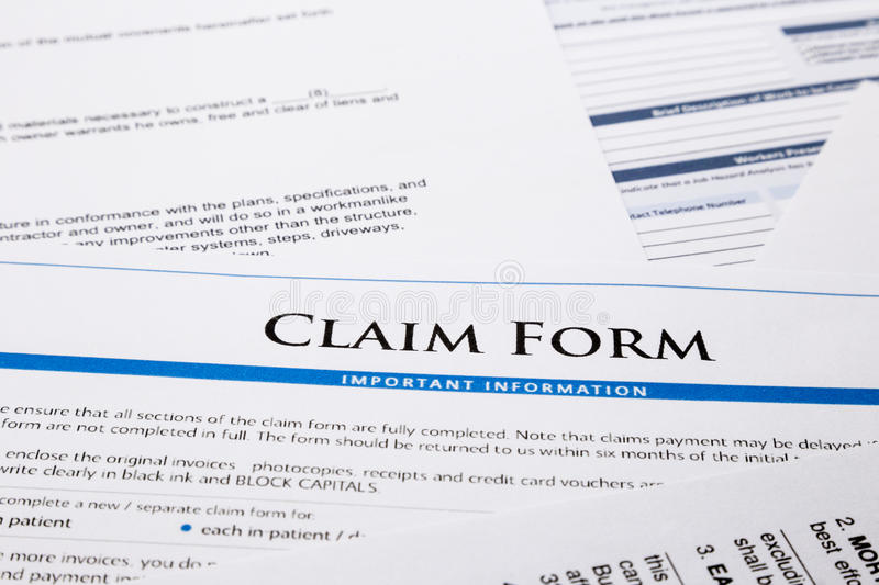 Download Claim Form Stock Images - Image: 31875924