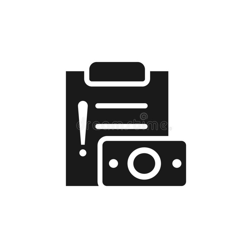 Claim, handling, loss, payment icon - Vector. Insurance concept vector illustration. On white background royalty free illustration