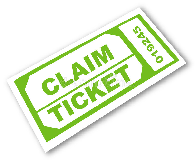 Claim ticket vector illustration