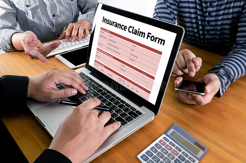 CLAIMS Health insurance form , Business Concept , Insured Claims. Emergency Condition royalty free stock image