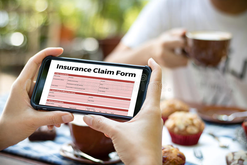 CLAIMS Health insurance form , Business Concept , Insured Claims. Emergency Condition stock images