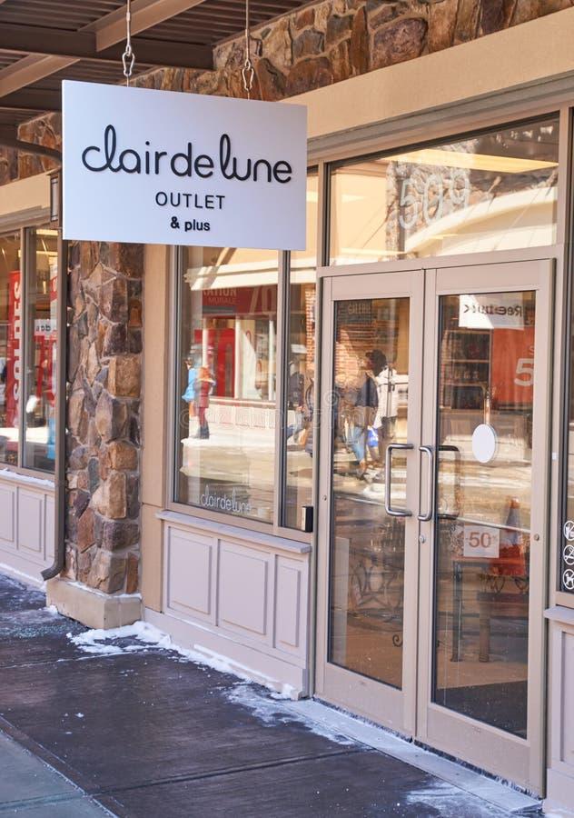 Clair de Lune-afzet stock fotografie