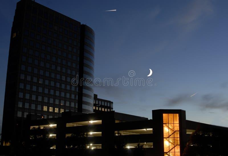 Clair de lune de ville photo stock