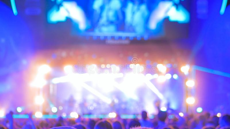 ?clairage Defocused de concert image stock