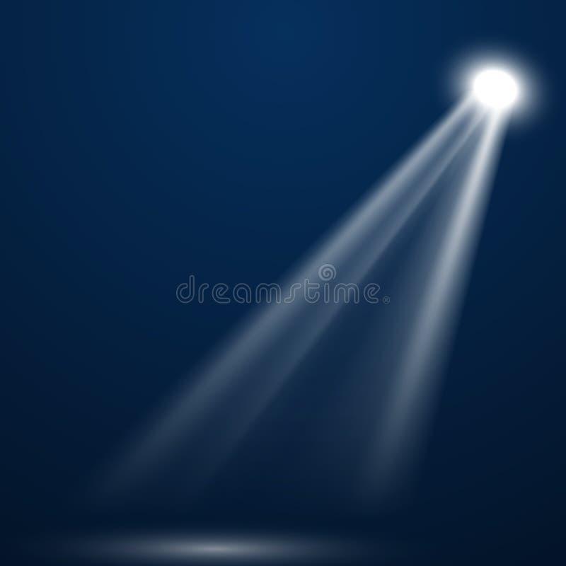 ?clairage lumineux avec des projecteurs photo stock