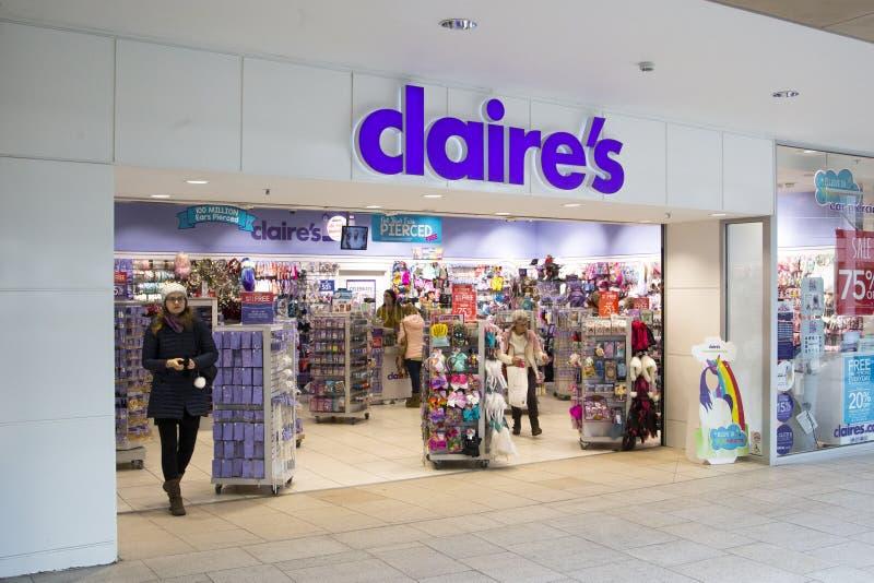 Claire ` s akcesoriów sklep fotografia royalty free