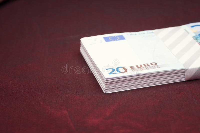 Clairvoyance equipment with money. On dark desk stock images
