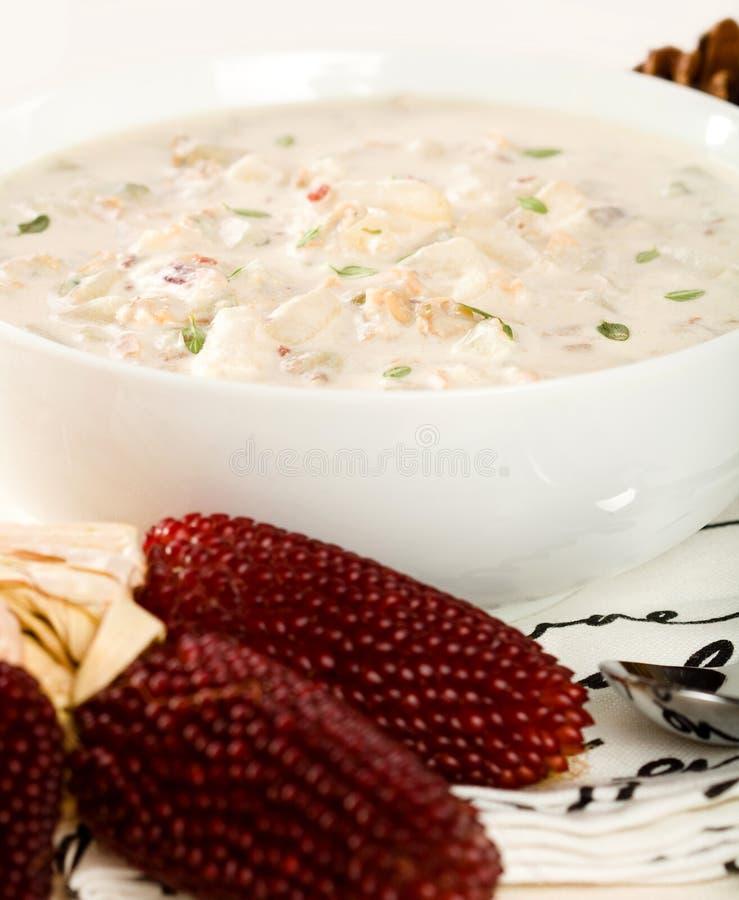 clam Англия густого супа новая стоковая фотография rf