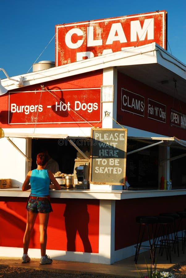 Clam Bar, Hampton orientale immagine stock libera da diritti