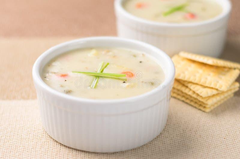Clam-Chowder-Suppe stockbild