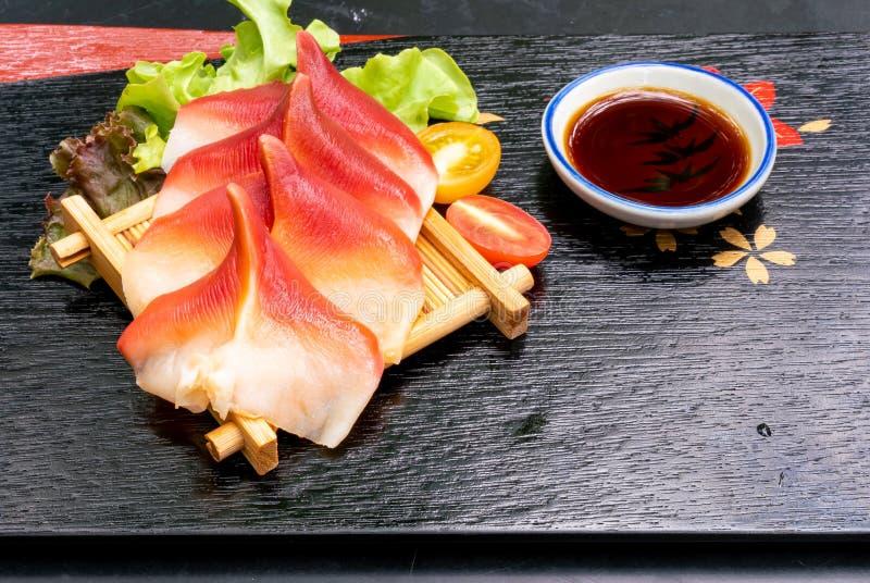 Clam di surf Stimpson o hokkigai Sashimi immagini stock libere da diritti