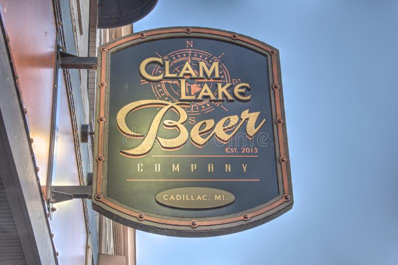 Clam Lake Beer Company, Cadillac, Michigan foto de archivo