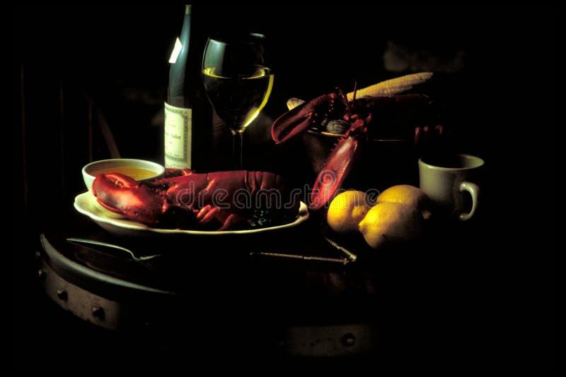 Clambake. Moody shot of clambake dinner royalty free stock photography