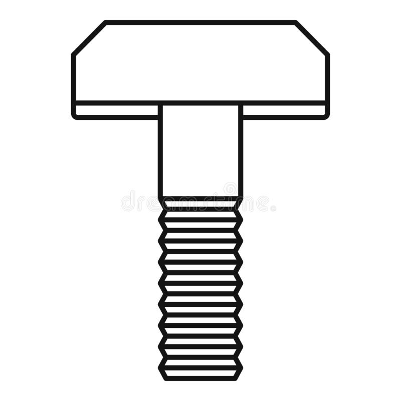 Free Clamp Screw Bolt Icon, Outline Style Stock Photo - 160125950