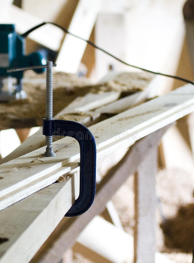 Download Clamp In Workshop Royalty Free Stock Photos - Image: 24053018