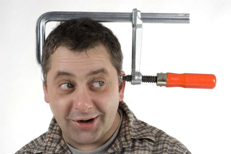 Clamped head stock photo