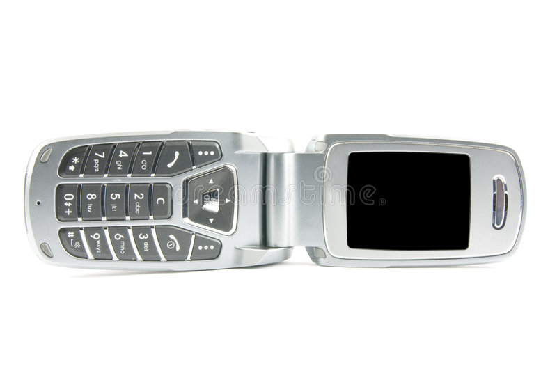 clamshell σύγχρονο τηλέφωνο στοκ φωτογραφία με δικαίωμα ελεύθερης χρήσης