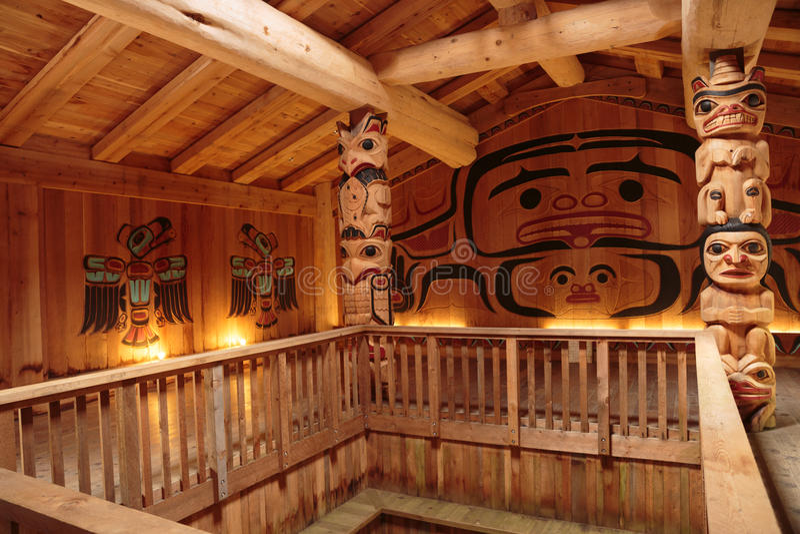Clan House Interior stock photo