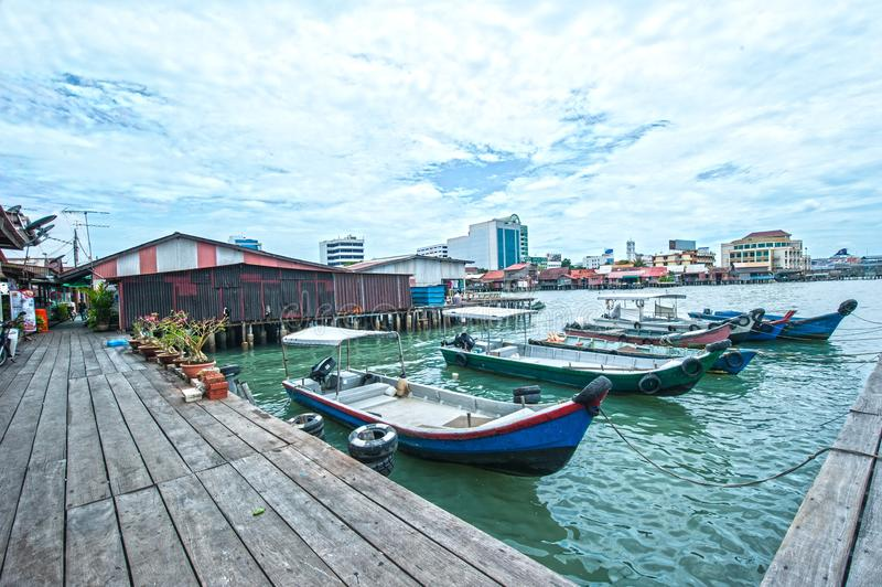 Clan Jetties Of Penang. The Clan Jetties of George Town are the traditional settlement created by Chinese immmigrants who share common historical, geographical stock photos