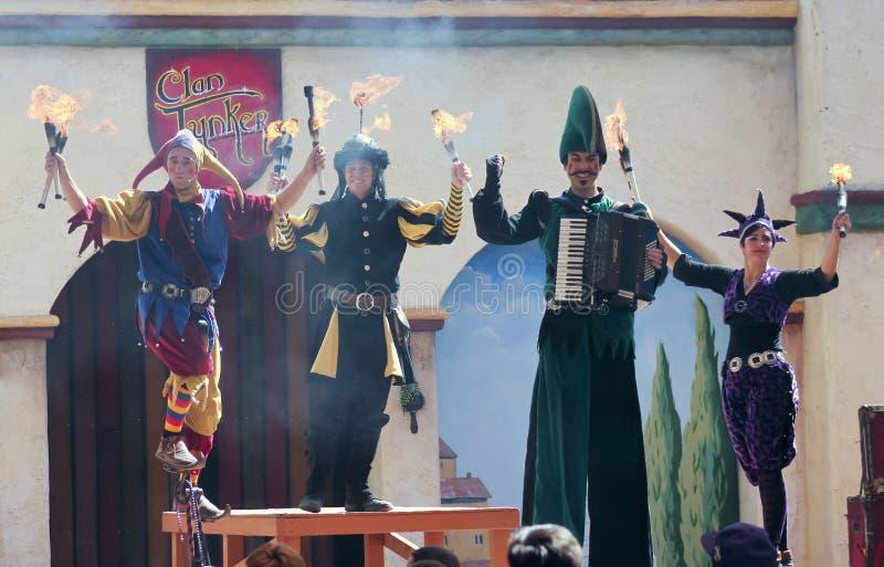 A Clan Tynker Show, Arizona Renaissance Festival stock photo
